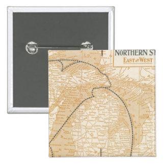 Mapa Northern Steamship Company Pin Cuadrado