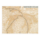 Mapa Northern Steamship Company Postales