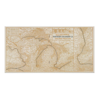 Mapa Northern Steamship Company Posters