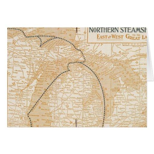 Mapa Northern Steamship Company Tarjeta De Felicitación