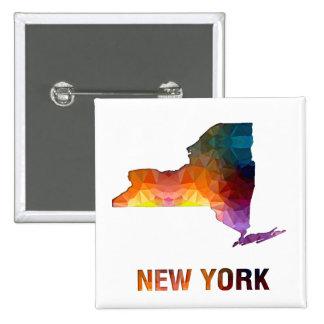 Mapa NUEVA YORK del estado del mosaico del