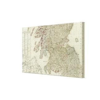 Mapa nuevo y correcto de Escocia Impresiones De Lienzo