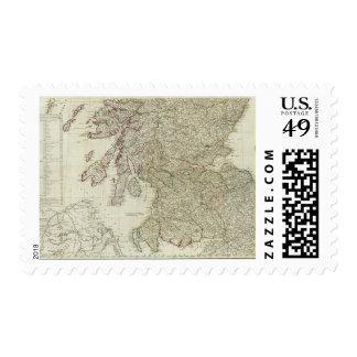 Mapa nuevo y correcto de Escocia Sello