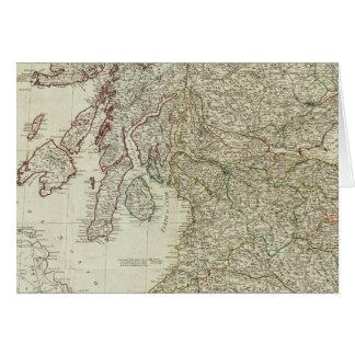 Mapa nuevo y correcto de Escocia Felicitación