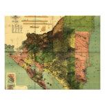 Mapa oficial 1898 de Nicaragua Comunicados