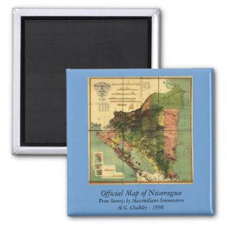 Mapa oficial 1898 de Nicaragua Iman De Nevera