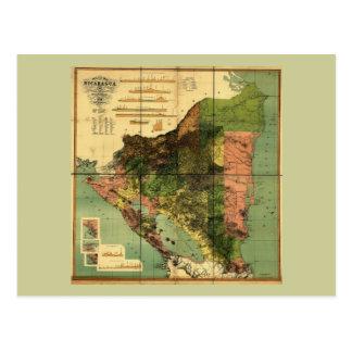 Mapa oficial 1898 de Nicaragua Postal
