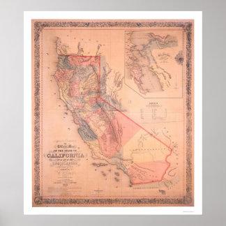 Mapa oficial de California Póster