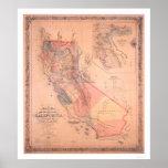Mapa oficial de California Posters