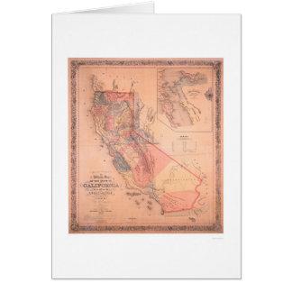 Mapa oficial de California Tarjeta De Felicitación