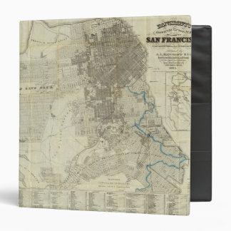 """Mapa oficial de la ciudad de San Francisco de Banc Carpeta 1 1/2"""""""