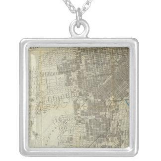 Mapa oficial de la ciudad de San Francisco de Banc Colgante Cuadrado