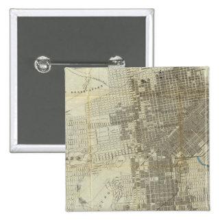 Mapa oficial de la ciudad de San Francisco de Banc Pin Cuadrado