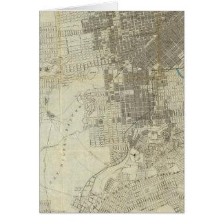 Mapa oficial de la ciudad de San Francisco de Banc Tarjeta De Felicitación