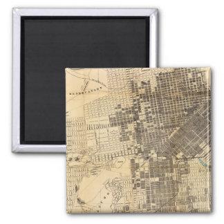 Mapa oficial de la guía de Bancroft de San Francis Imán Cuadrado