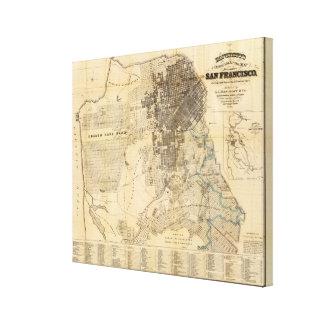 Mapa oficial de la guía de Bancroft de San Francis Impresión En Lienzo