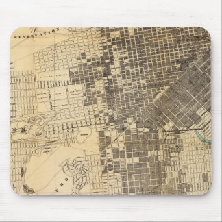 Mapa oficial de la guía de Bancroft de San Francis Mouse Pads