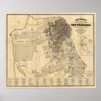 Mapa oficial de la guía de Bancroft de San Francis Impresiones