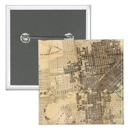 Mapa oficial de la guía de Bancroft de San Francis Pin