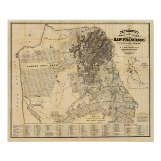 Mapa oficial de la guía de Bancroft de San Francis Póster