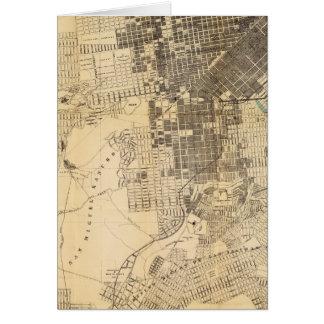 Mapa oficial de la guía de Bancroft de San Francis Tarjeta De Felicitación