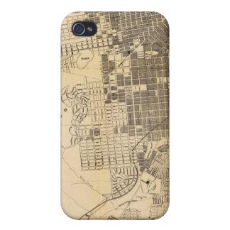 Mapa oficial de la guía de Bancroft de San iPhone 4 Carcasa