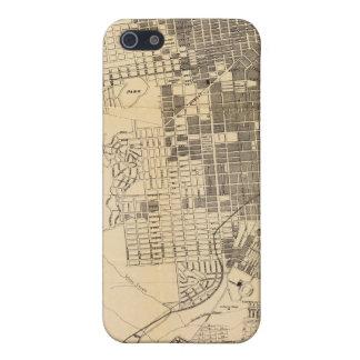 Mapa oficial de la guía de Bancroft de San iPhone 5 Carcasa