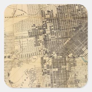 Mapa oficial de la guía de Bancroft de San Pegatina Cuadrada