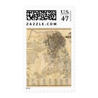 Mapa oficial de la guía de Bancroft de San Sellos Postales