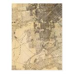 Mapa oficial de la guía de Bancroft de San Tarjeta Postal