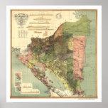 Mapa oficial de Nicaragua 1898 Impresiones