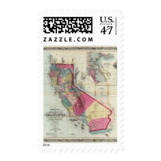 Mapa oficial del estado de California Estampillas
