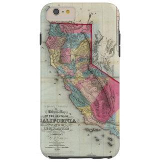 Mapa oficial del estado de California Funda Para iPhone 6 Plus Tough