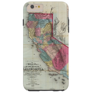 Mapa oficial del estado de California Funda De iPhone 6 Plus Tough