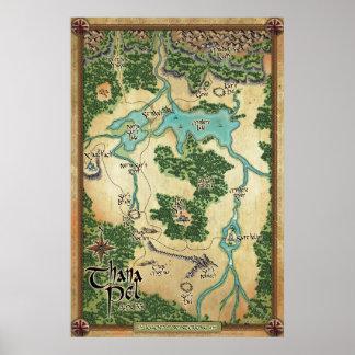 Mapa oficial del PEL de Thana (leyenda del Póster