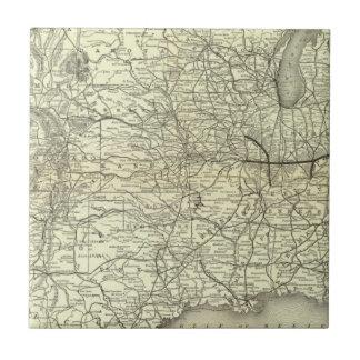 Mapa Ohio y ferrocarril de Mississippi Azulejos Cerámicos