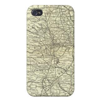 Mapa Ohio y ferrocarril de Mississippi iPhone 4 Fundas