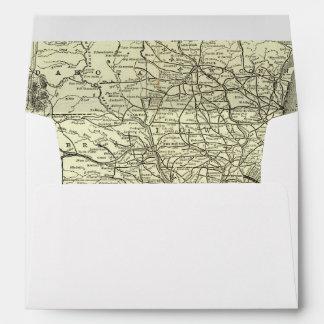 Mapa Ohio y ferrocarril de Mississippi Sobre