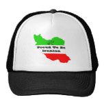 mapa, orgulloso ser iraní gorras de camionero