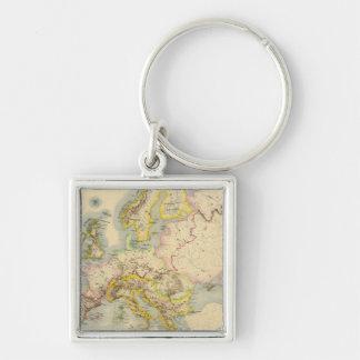 Mapa orográfico de Europa Llaveros Personalizados