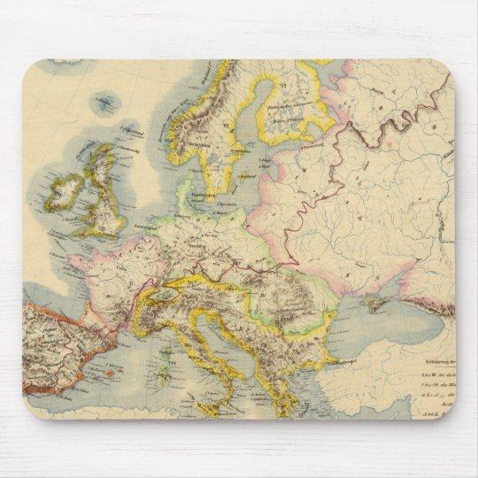 Mapa orográfico de Europa Tapete De Raton