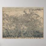 Mapa panorámico 1886 del ojo del pájaro de San Ant Impresiones
