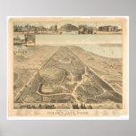 Mapa panorámico 1892 (0644A) de Golden Gate Park Poster