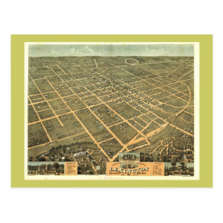 Mapa panorámico antiguo de Lexington KY 1871 Tarjeta Postal