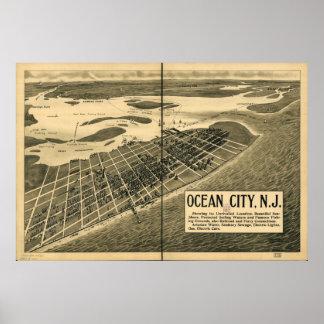 Mapa panorámico antiguo de New Jersey 1903 de la c Impresiones