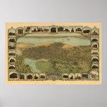 Mapa panorámico antiguo de Oakland California 1900 Impresiones
