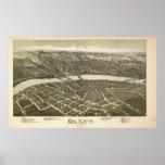 Mapa panorámico antiguo de Pennsylvania 1896 de la Impresiones