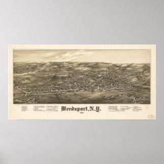 Mapa panorámico antiguo de Weedsport Nueva York 18 Posters