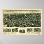 Mapa panorámico antiguo de Westwood New Jersey 192 Impresiones