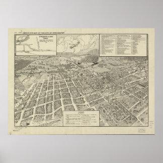 Mapa panorámico antiguo de Winchester Virginia 192 Impresiones